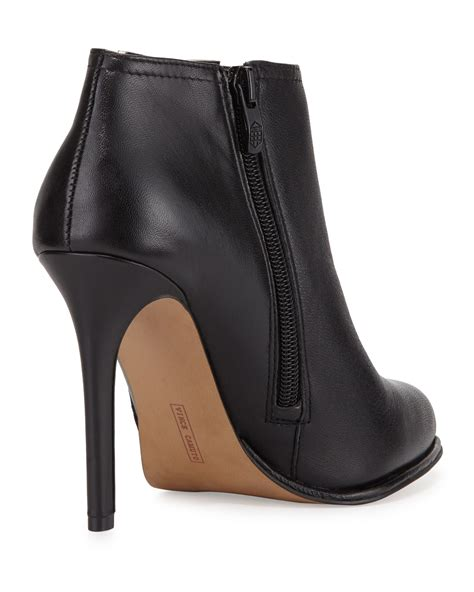 black leather high heel booties vince camuto leather high heel bootie in black lyst