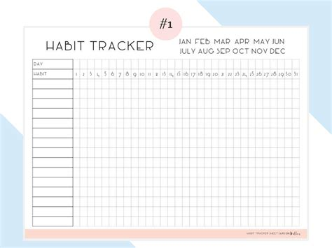 Daily Habit Tracker Free Printables Life On Waller Daily Habit Tracker Template