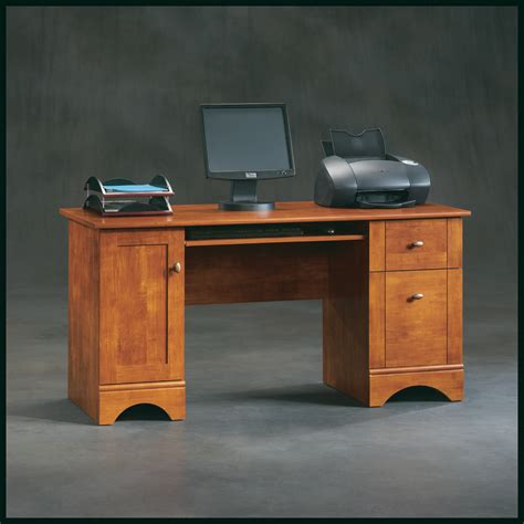 sauder brushed maple computer desk 402375