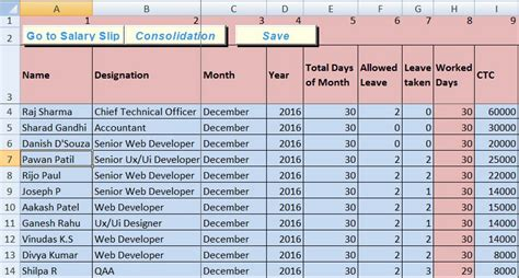 10 Best Hr Payroll Templates In Excel By Exceldatapro Salary Template