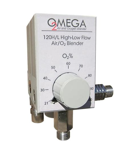 Regulator Blender omega high flow air oxygen blender