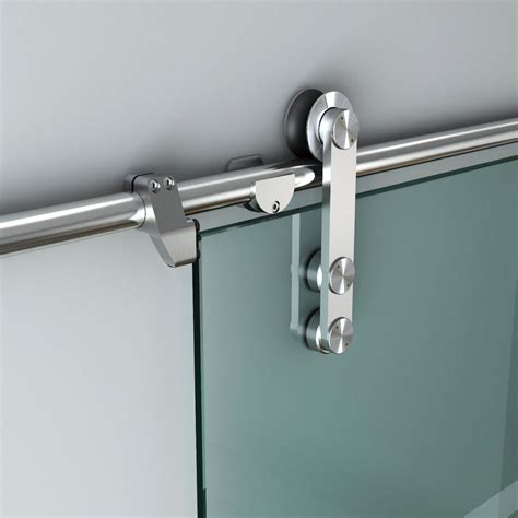 5ft 13ft Stainless Steel Glass Sliding Barn Door Hardware Sliding Glass Door Hardware