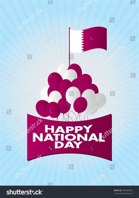 qatar national day qatar national day stock vector illustration 164369525