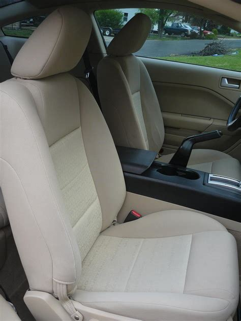 mustang upholstery replacement replaced cloth seat covers for leather the mustang