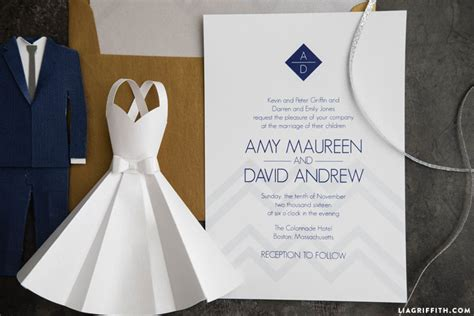 Modern Wedding Invitations by Modern Wedding Invitation Suite Lia Griffith