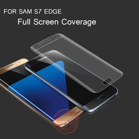 Tempered Glass S7 Flat cover screen protector for samsung galaxy s7 edge tpu