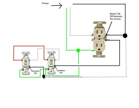 3 way switch receptacle wiring diagram get free image