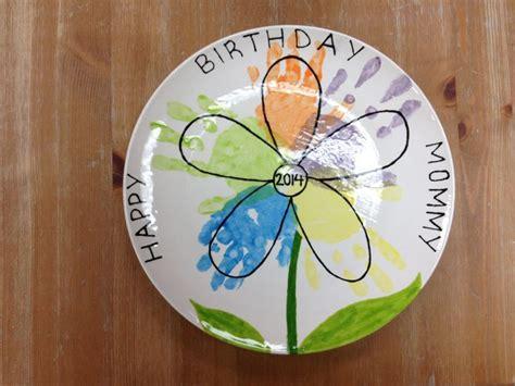 color me mine hamilton nj ceramic plate with handprint flower design for made