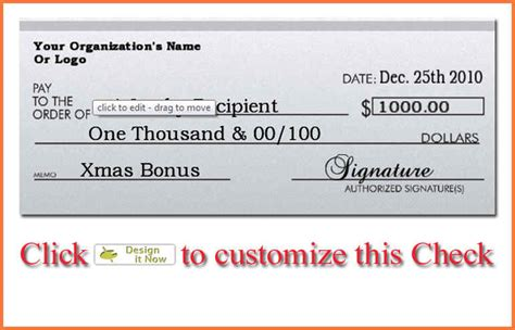 Giant Cheque Template Html Autos Weblog Mock Cheque Template
