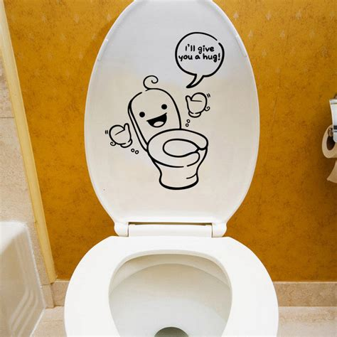Toilet Sticker toilet stickers bathroom wall decals waterproof removable
