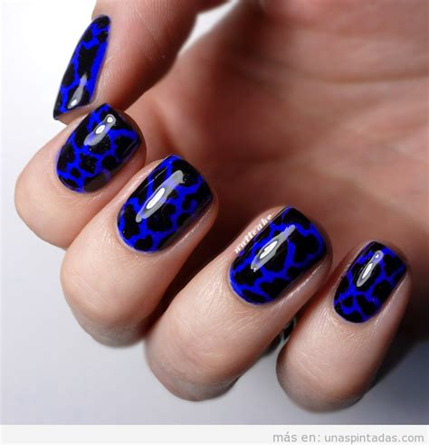 imagenes de uñas negras con azul azul archivos u 241 as pintadas