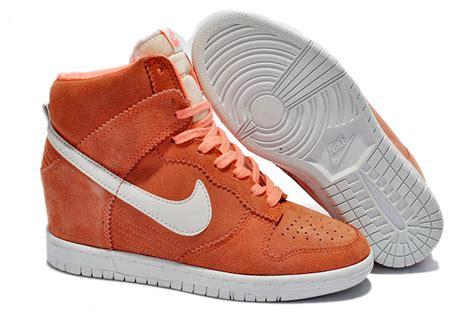 nike sky high dunks womens wedge sneakers orange