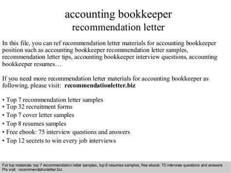 reference of book keeping accounting bookkeeper recommendation letter
