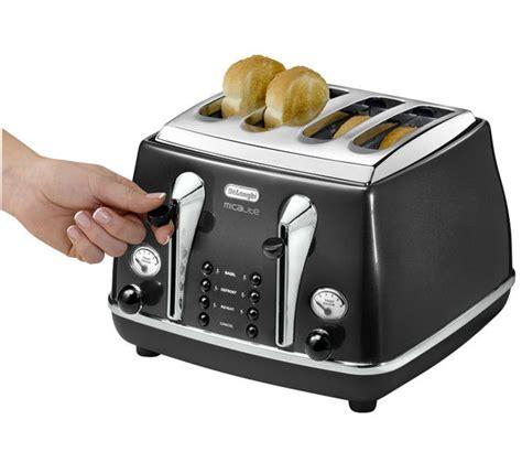 Delonghi Micalite Toaster buy delonghi micalite ctom4003 4 slice toaster black free delivery currys