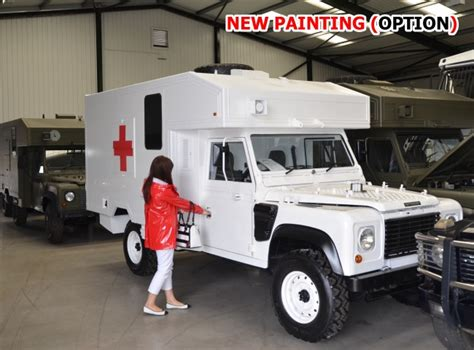 land rover defender ambulance for sale land rover 130 defender wolf rhd ambulance for sale mod