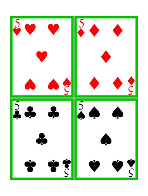 printable playing cards sheets free printable standard playing cards card games at kid