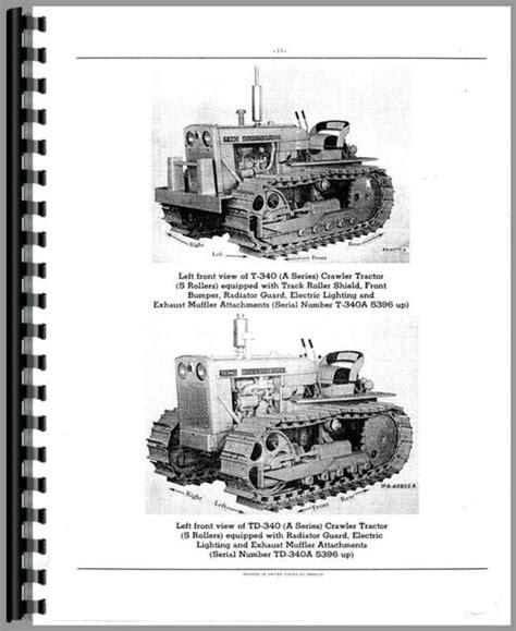 International Harvester T340a Crawler Parts Manual