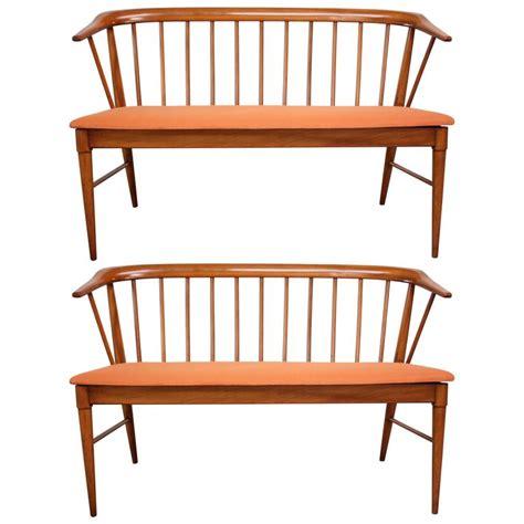 spindle back bench mid century modern spindle back bench at 1stdibs