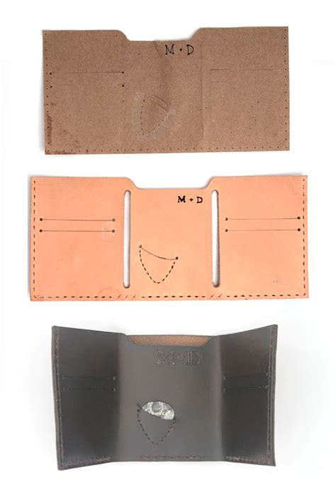 pattern for leather wallet leather wallet sewing pattern www imgkid com the image