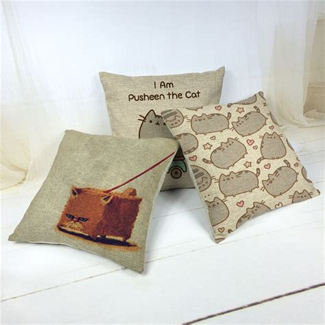 customized home decorative pillow stylelovely cat
