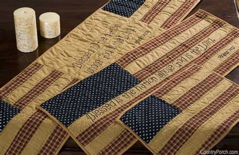 Victorian Heart Patriotic Patch Tabletop Collection