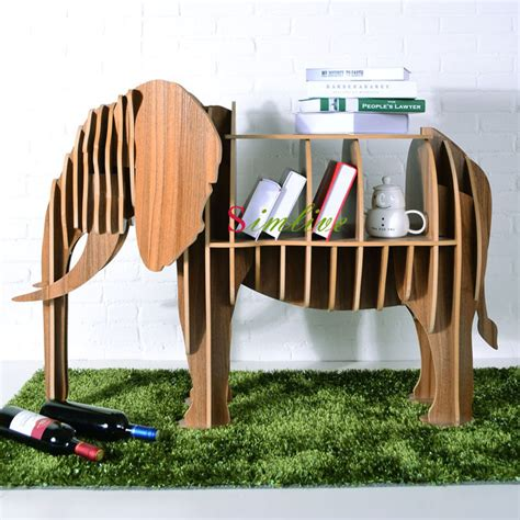 Animal Bookshelf aliexpress buy wood elephant table for living room decor diy animal furniture animal