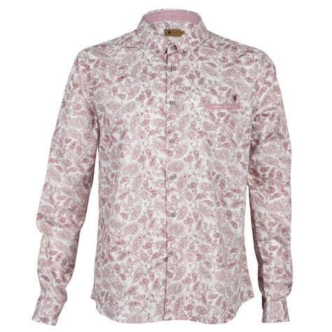 pattern button shirt new gabicci vintage mens paisley pattern print button up
