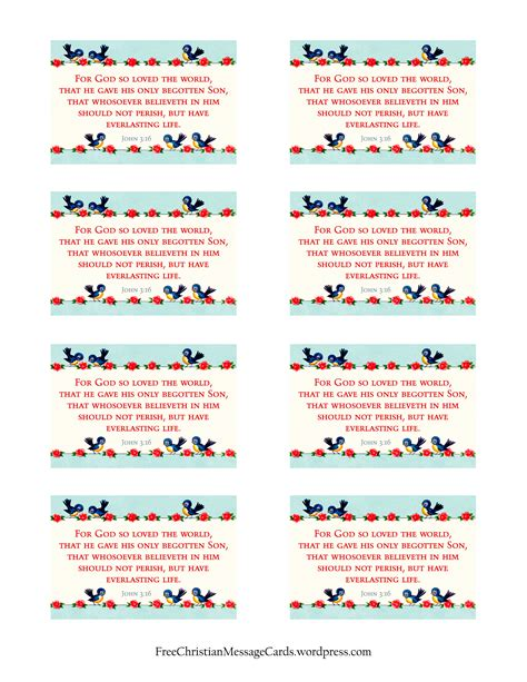 free printable christian message cards for god so loved
