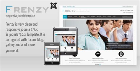 frenzy clean responsive joomla business template by