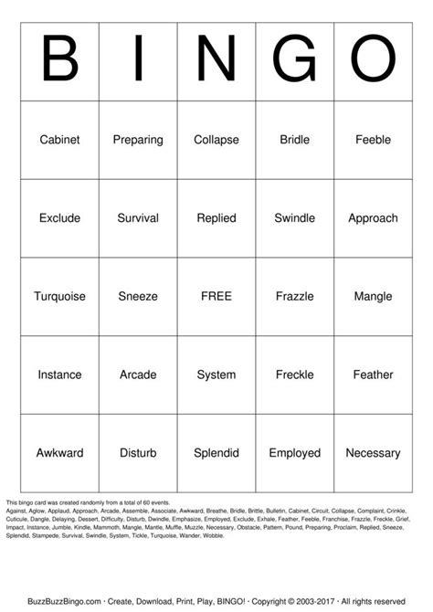 Printable Spelling Bingo Games | spelling bingo bingo cards to download print and customize