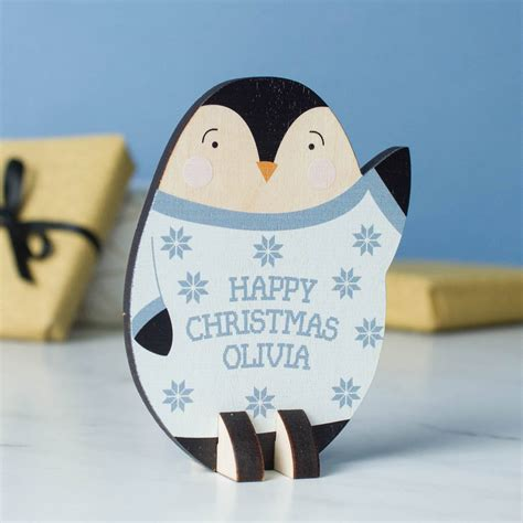 personalised office desk gifts personalised desk ornament penguin by create