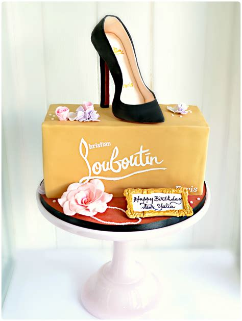high heel shoe birthday cake gluten free dairy free christian louboutin black high heel