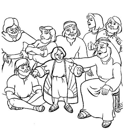 coloring sheets for joseph joseph