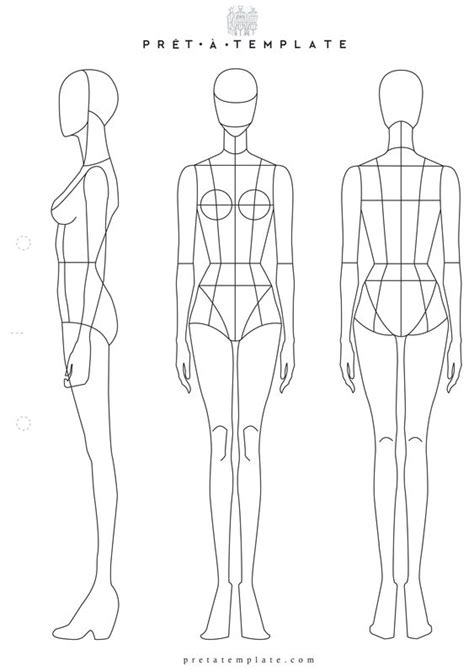 body outline template fashion design pictures to pin on
