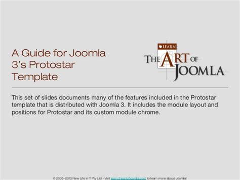 manual for joomla a guide for joomla 3 s protostar template