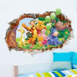 cartoon winnie the pooh wall sticker wallpaper for kids baby room best ideas about stickers tree pinterest