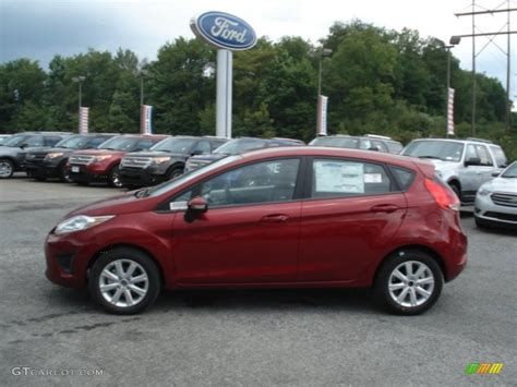 Paint For Home Interior by Ruby Red 2013 Ford Fiesta Se Hatchback Exterior Photo