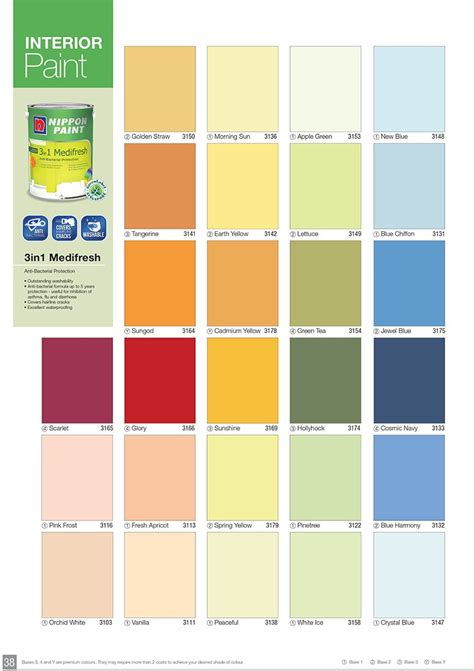 100 nippon paint color chart 2016 nippon matex gold low voc interior paints downloadable