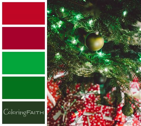 christmas color palette 10 free christmas palettes that will boost your coloring