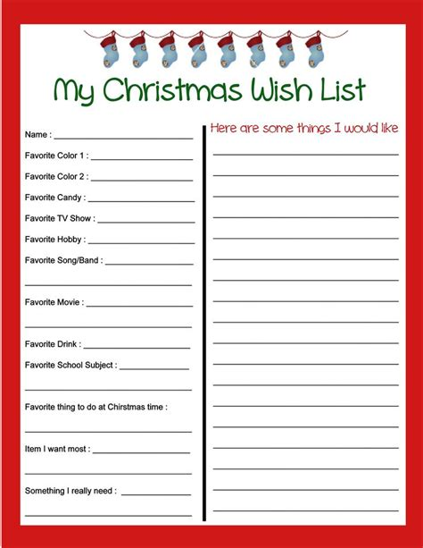 25 best ideas about christmas list printable on pinterest