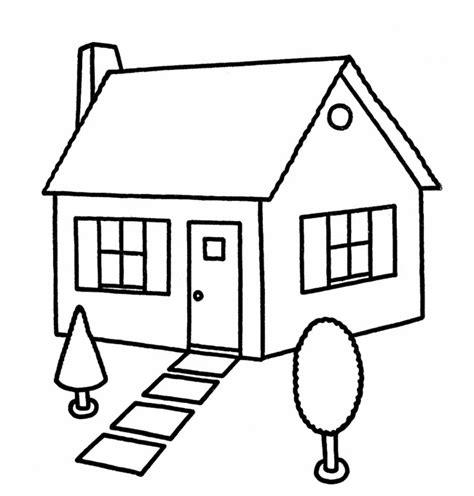 imagenes faciles para dibujar de casas casa para colorear