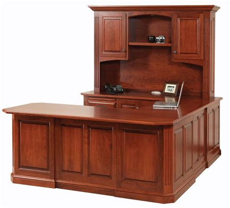 U Shaped Desks With Hutch Buckingham U Shaped Desk With Optional Hutch Top From Dutchcrafters