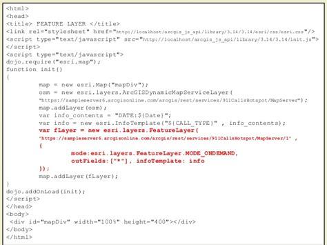 arcgis rest tutorial arcgis api for javascript tutorial