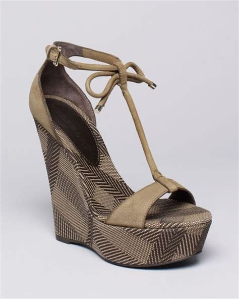 burberry wedge sandals burberry platform wedge sandals lingards in brown