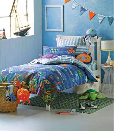 sea bedding under the sea blue ocean boys kids double bed cotton doona