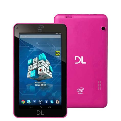 android 4 4 tablet tablet dl x pro dual pink tela 7 8gb wi fi duas c 226 meras digitais integradas android 4 4