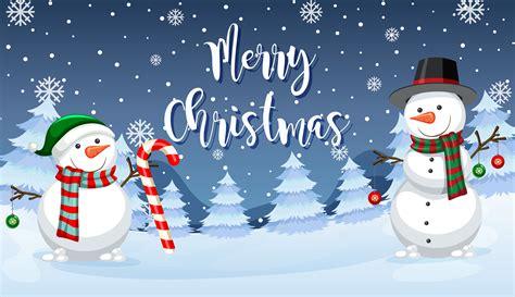 merry christmas snowman card   vectors clipart graphics vector art