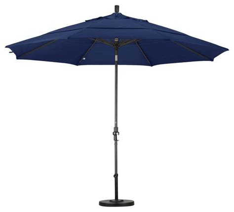 11 Ft Patio Umbrella California Umbrella Patio Umbrellas 11 Ft Aluminum Collar Tilt Vented Contemporary