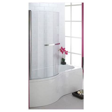 curved shower screens bath curved shower screen 5mm 1500x770mm polished silver