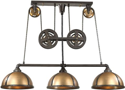 Antique Brass Kitchen Island Lighting Elk 65152 3 Torque Modern Vintage Rust Vintage Brass Kitchen Island Lighting Elk 65152 3